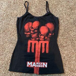 Custom made Marilyn Manson tank top
